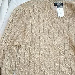 NWT Sparkling Beige Talbots Sweater